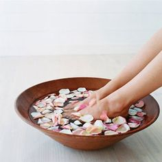Amazing at-home pedicures to try including 'strawberry daiquiri' pedicure and 'triple citrus' pedicure!