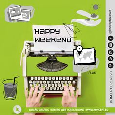 Como viene siendo un ritual cada viernes dedicamos unos momentos a lo viene siendo el #happyweekend pero esta semana hemos decidido que vosotros escribáis vuestra propia historia!!! porque vosotros sois los especialistas en escribir los mejores relatos de vuestra vida. Nosotros por nuestra parte la vamos diseñando que se nos da mejor ja ja ja. ... Lo dicho a disfrutar del #finde http://www.koncept.es #viernes #weekend #findesemana #friday #happy #tuhistoria #disfrutando #diseñografico…