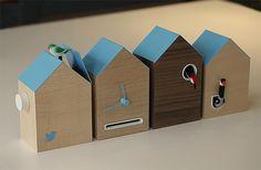 The birds inside this cuckoo clock by London design studio BERG are programmed… Business Innovation, Innovation Design, Dezeen, Software Development, Flocking, Twitter, Bird Houses, Cool Designs, Presents