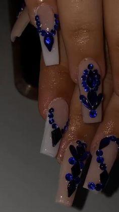 Pink Acrylic Nail Designs, Hot Nail Designs, Purple Acrylic Nails, Purple Nails, Art Designs, Edgy Nails, Hot Nails, Bling Nails, Fiberglass Nails