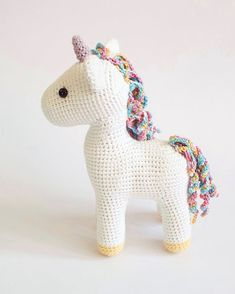 Amigurumi Unicorn Free Crochet PatternBest Picture For amigurumi free pattern animals elephant For Your Tast Crochet Animal Patterns, Stuffed Animal Patterns, Crochet Patterns Amigurumi, Amigurumi Doll, Crochet Toys, Free Crochet, Crochet Stuffed Animals, Diy Crochet Animals, Crochet Unicorn Pattern Free