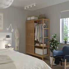 NORDKISA bamboo, Open wardrobe with sliding door, Width: 120 cm Height: 186 cm - IKEA