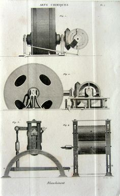 Antique bleaching process chemistry engravingt antique 1852 chemistry laboratory apparatus steel print, Bleach scientific apparatus.  This original antique good quality french bleaching process chemistry steel engraving was published in 1852.  SUBJECT: Bleaching process chemistry. PAPER SIZE : Approx Inches 8.2 x 5.1 (20.8 x 13cm). AGE: 164 years. CONDITION: Good condition.  Plate printed on good paper. Reverse side is blank.  For more antique CHEMISTRY prints, please click on: https:/&...