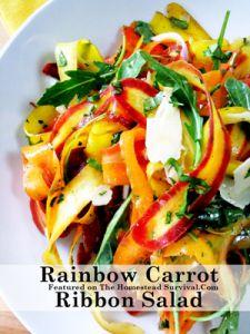 Rainbow Carrot Ribbion Salad Rainbow Carrot Ribbon Salad Recipe