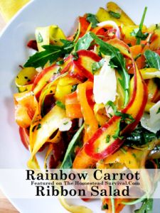 Rainbow Carrot Ribbion Salad Rainbow Carrot Ribbon Salad Recipe