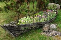 wooden boats in gardens - Google Search