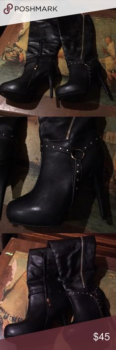 Sandrine boots New, never worn Sandrine, wide Shoes Over the Knee Boots