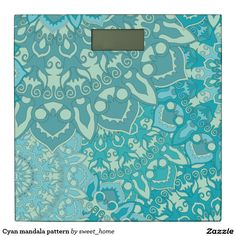 Cyan mandala pattern bathroom scale http://www.zazzle.com/cyan_mandala_pattern_bathroom_scale-256413292577206412?CMPN=shareicon&lang=en&social=true&view=113505200072960684&rf=238588924226571373
