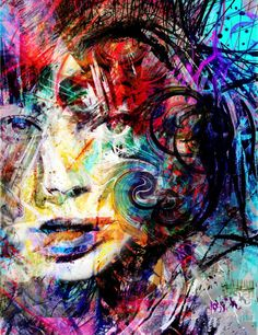 Layers of Trust by Yossi Kotler (acrylic on canvas and paper)
