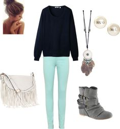 """""""Big Sweaters are Beast"""" by fashionfanaza on Polyvore"""