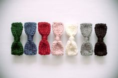 knitted bow barrette choose your color by nanoutriko on Etsy