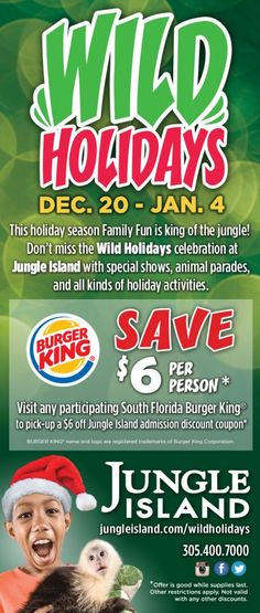 Wild Holidays at Jungle Island 2014