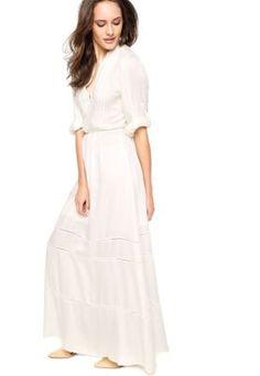 Vestido Longo Lança Perfume Chemise Off White