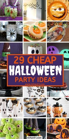 29 Cheap and easy Halloween party ideas that you can do yourself at home! These DIY Halloween party ideas look insanely spooky and awesome! Diy Halloween Party, Cheap Halloween, Halloween Celebration, Halloween Games, Holidays Halloween, Halloween Kids, Halloween Treats, Halloween Dinner, Halloween Stuff