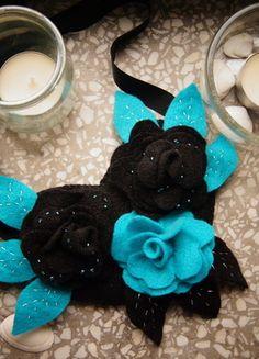 Kup mój przedmiot na #vintedpl http://www.vinted.pl/akcesoria/bizuteria/11663604-filcowy-naszyjnik-handmade