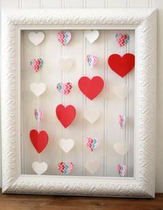 Easy DIY Valentine's Day Wall Art Ideas - #valentines