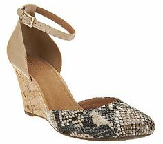 Clarks Artisan Purity Hyline Closed Toe Wedges with Ankle Strap