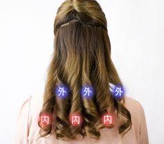 内巻き・外巻きは、フォワード巻き・リバース巻きなんて言い方もされるけど、  実際この2つってどう違うのか、よく分からない人も多いはず。  今回は、この内巻き・外巻 Wedding Guest Hairstyles, Hair Arrange, Wedding Tips, Hair Styles, Makeup, Beauty, Beleza, Marriage Tips, Maquillaje