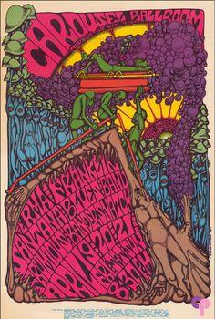 By Steve Catron, 1 9 6 8, Santana show at the Carousel Ballroom.
