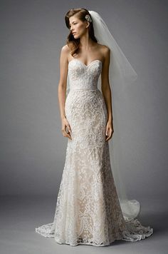 """I Love This Wedding Dress, But I Still Plan on Losing Weight"" - wedding dress idea. Watters Fall 2015"