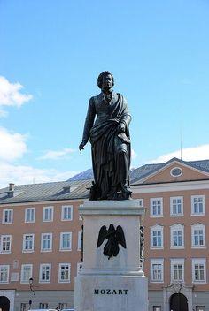 Mozart's Statue - Salzburg, Austria.