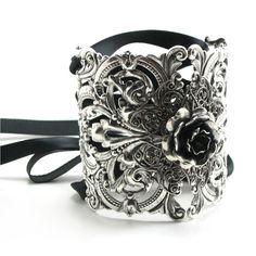 Antiqued sterling silver wrist cuff
