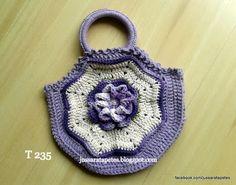 Jussara tapetes: Mini bolsa em crochê - T 235