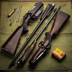 Vintage Westley Richards take down rifles in our proprietary cartridges .318 and .425