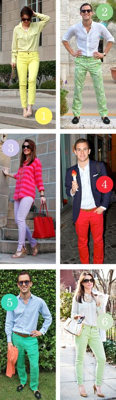 Hot Pants // we love colorful jeans and trousers for spring & summer!