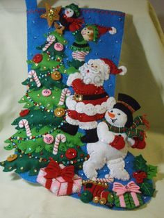 Bucilla Felted Kit Completed FINISHNG TOUCH Christmas by wilkie36
