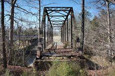 Abandoned County Road 75 Bear Creek Bridge in Mississippi