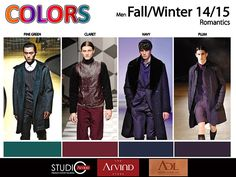 COLOR TREND: AUTUMN WINTER 2014/15 FOR MEN'S WEAR on Behance