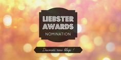 Citron Gingembre est nominé aux Liebster Awards !! L'occasion de me dévoiler un petit peu :) Occasion, Blog, Cards Against Humanity, Lemon, Blogging
