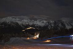 Ski au clair de lune à Nendaz, Suisse