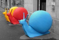 Giant snails, Paris