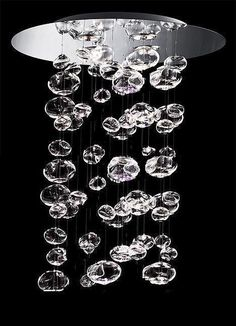 Bubble-Chandelier. Respect - even though this was probably manufactured not hand made glass bubbles are one of the HARDEST fing things ever to make.