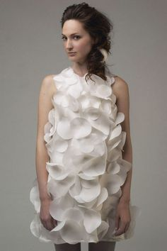Kaelyn Garcia's white Organic Cotton and natural silk sateen circle dress.