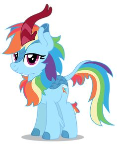 Rainbow Dash Kirin by on DeviantArt Rainbow Dash, Imagenes My Little Pony, My Little Pony Drawing, Little Poni, Mlp Fan Art, Mlp Pony, Simple Backgrounds, Cartoon Shows, My Little Pony Friendship