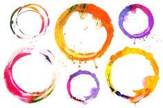 circle acrylic and watercolor - Abstract