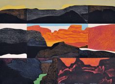 Grand Canyon by Clare Romano. Collagraph, 1975.