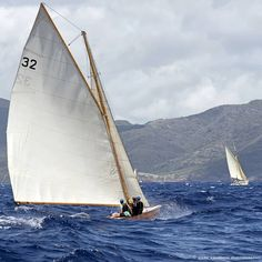 Tilly XV - A 1912 Classic Racing by at the Annual Antigua Classic Regatta 2017 - German…""