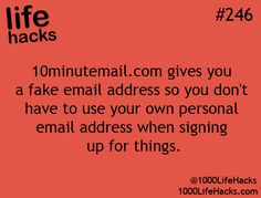 Fake email account to use for 10min to avoid spam - great life hack