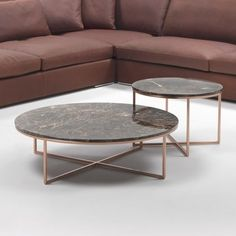 Round coffee table Porto Click the above image to enlarge - Marble Table Designs Contemporary Furniture Stores, Luxury Furniture, Furniture Design, Italian Furniture, Outdoor Furniture, Coffee Table Design, Round Coffee Table, Round Marble Table, Center Table Living Room
