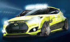 Hyundai Veloster Turbo Yellowcake @ SEMA 2013 #hyundaivelosterturbo #sema
