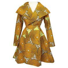 Resa Dress/Coat - Yellow/Orange