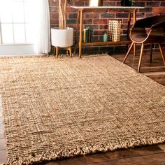 Bring a hint of natural flair to your home with the nuLOOM Handmade Eco Natural Fiber Chunky Loop Jute Rug. This rug features a natural jute construction with a sturdy woven construction and fringed e Decor, Cool Rugs, Rugs, Havenside Home, Handmade Home, Nuloom, Home Decor, Jute, Chunky Jute Rug