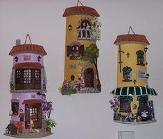 tejas decoradas con pasta de papel - Buscar con Google