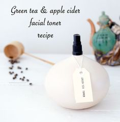 "Green Tea and Apple Cider Facial Toner in my article … Girl Talk: DIY Skin and Body Care (Part a., ""The Black Article"" Cleanser And Toner, Facial Toner, Diy Spa, Apple Cider Vinegar Toner, Homemade Toner, Green Tea Toner, Glycerin, Homemade Beauty Products, Tips Belleza"