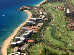 Kaanapali Beach Aerial - Kaanapali, Hawaii.  My favorite place to stroll.  Join me in October-November 2012.
