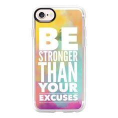 Be Stronger Rainbow Clouds - iPhone 7 Case And Cover ($40) ❤ liked on Polyvore featuring accessories, tech accessories, phone cases, iphone case, clear iphone case, rainbow iphone case, apple iphone case, iphone cases and iphone cover case